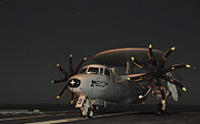 Chained Prints - An E-2c Hawkeye Is Chained Print by Stocktrek Images