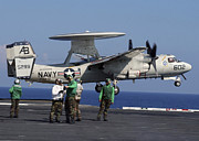 Enterprise Prints - An  E-2c Hawkeye Launches From Aboard Print by Stocktrek Images