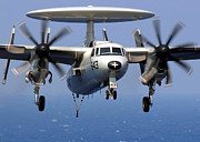 Electronics Photos - An E-2c Hawkeye Prepares For An by Stocktrek Images