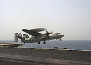 Enterprise Metal Prints - An E-2c Hawkeye Takes Metal Print by Stocktrek Images