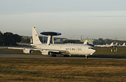 707 Framed Prints - An E-3 Sentry At The Nato Awacs Base Framed Print by Timm Ziegenthaler