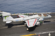 Naval Aircraft Prints - An Ea-6b Prowler Is Ready To Go Print by Giovanni Colla