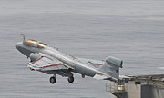 Prowler Photos - An Ea-6b Prowler Lifts by Giovanni Colla