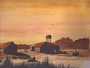 Farming Barns Mixed Media Prints - An Early Start Print by David Bishop