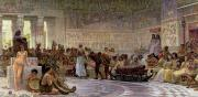 1877 Paintings - An Egyptian Feast by Edwin Longsden Long