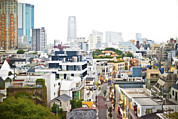 Building Feature Framed Prints - An Elevated View Of Harajuku District Framed Print by Eddy Joaquim