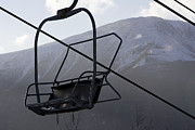 Winter Landscapes Photo Metal Prints - An Empty Chair Lift At A Ski Resort Metal Print by Tim Laman