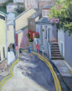 Antiquated Painting Prints - An English Village Print by Char Wood