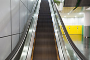 Escalator Framed Prints - An Escalator Framed Print by Guang Ho Zhu