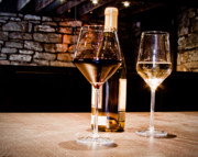 Wine Glasses Prints - An Ethereal Look at Light and Wine Print by Paul Donihue