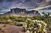 Superstition Prints - An Evening at the Superstitions Print by Saija  Lehtonen