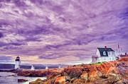 Maine Shore Prints - An Evening in Maine Print by Darren Fisher
