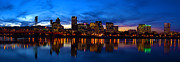 Evening Lights Prints - An Evening In Portland Print by Brian Bonham