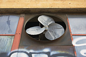 Electric Fan Framed Prints - An Exhaust Fan At A Ventilation Outlet Framed Print by Nathan Griffith