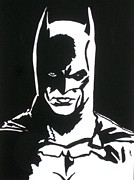 Superhero Drawings - An Eye To See Batman by Robert Margetts