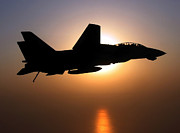 Flight Prints - An F-14d Tomcat In Flight Print by Stocktrek Images