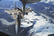 To Paint Posters - An F-15c Eagle Aircraft Sits Poster by Stocktrek Images