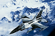 Mountains Art - An F-15c Falcon From The 18th Aggressor by Stocktrek Images