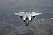 Afghanistan Photo Posters - An F-15e Strike Eagle Flies Watch Poster by Stocktrek Images