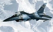Training Prints - An F-16 Aggressor Disconnectsfrom Print by Stocktrek Images