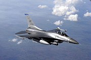 Training Prints - An F-16 Fighting Falcon Prepares Print by Stocktrek Images