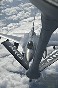 An F-16 From Colorado Air National Print by Giovanni Colla