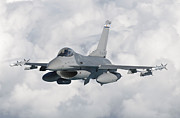 Armed Forces Prints - An F-16 From The Colorado Air National Print by Giovanni Colla