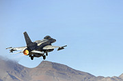 Military Training Prints - An F-16e From The United Arab Emirates Print by Stocktrek Images