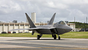 On The Runway Photos - An F-22 Raptor Taxis To The End by HIGH-G Productions