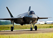Taxiing Framed Prints - An F-35 Lightning Ii Taxiing At Eglin Framed Print by Stocktrek Images