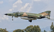Airfield Prints - An F-4 Phantom Of The Hellenic Air Print by Giovanni Colla