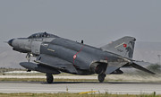 Turkey Metal Prints - An F-4 Phantom Of The Turkish Air Force Metal Print by Giovanni Colla