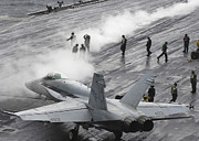 F-18 Prints - An Fa-18c Hornet Taxies Print by Stocktrek Images