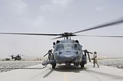 An Hh-60 Pave Hawk Lands After A Flight Print by Stocktrek Images