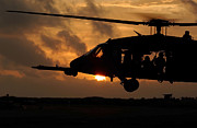 Night Hawk Prints - An Hh-60g Pave Hawk Helicopter Prepares Print by Stocktrek Images