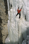 Model Released Photography Photos - An Ice Climber Tackling The Formation by Bobby Model