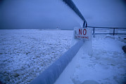 Etc. Photos - An Ice-covered Sign Warns No Swimming by Tim Laman