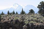 Gaia Prints - An Idea of Mount Shasta Print by Dagmar Ceki