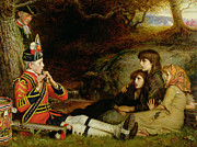 Pre War Prints - An Idyll  Print by Sir John Everett Millais