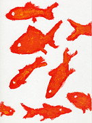 School Of Fish Digital Art - An Illustration Of A School Of Fish by Mamoru Ohtake