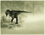 Dinosaurs Photo Posters - An Illustration Of A Tyrannosaurus Rex Poster by Doug Henderson