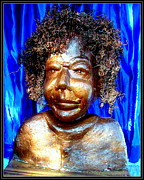 Plaster Of Paris Sculpture Prints - An Indian Saint Stya Sai Baba Print by Anand Swaroop Manchiraju