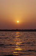 Ganga Photos - An Indian Sunrise Over The Holy Ganges by Jason Edwards