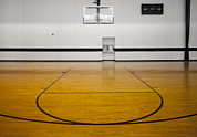 Basketball Sports Prints - An Indoor Sports Venue. Basketball Print by Christian Scully