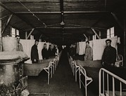 Face Masks Framed Prints - An Influenza Ward At The U. S. Army Framed Print by Everett