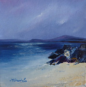 Monasticism Paintings - An Iona Beach by Margaret Denholm