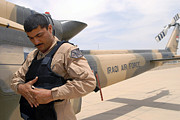Body Armor Art - An Iraqi Air Force Aerial Gunner by Stocktrek Images