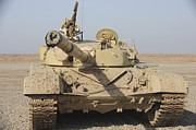 Iraqi Framed Prints - An Iraqi T-72 Tank At The Besmaya Framed Print by Stocktrek Images