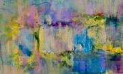 Entertaining Mixed Media Prints - An Iridescent Oil Slick  Print by Don  Wright
