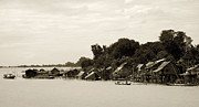 Monsoons Metal Prints - An island village on River Irrawaddy Metal Print by RicardMN Photography